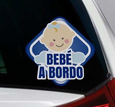 Diseño de vinilo coche de bebé a bordo para aplicar en la superficie de automóviles y vehículos para notificar a los usuarios de la carretera del bebé en el automóvil diseño fácil de aplicar.