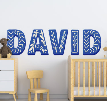 A custimisable child's alphabet name sticker that can be created with the name of your child. This design is easy to apply and you can chose the size.