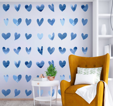 Original love heart home wall decal design to decorate your living room and bedroom to fill your home with passion. This design is easy to apply.