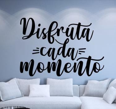 Vinilo de pared de texto personal motivacional que puedes usar para decorar tu hogar. Este diseño es fácil de aplicar y puede elegir el tamaño que prefiera.