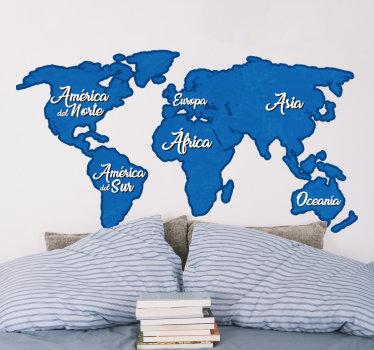 Vinilo mapamundi para el hogar puede aplicar este diseño en la habitación de sus hijos o en cualquier lugar de la casa. Este diseño es fácil de aplicar.