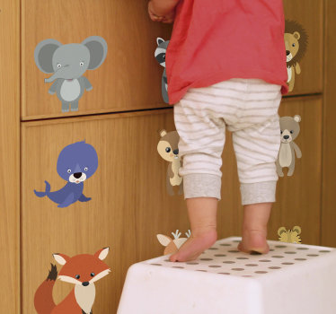 Kid's furniture sticker with animals that can be applied on the surface of  kids furniture. This design will amaze and make them happy. Easy to apply.