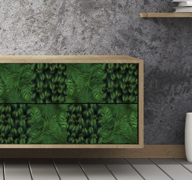 A green plant furniture vinyl sticker that you can use to decorate the surface of your furniture at home to rid it of boring surfaces. Easy to apply.