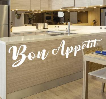Möbelaufkleber mit Text für die Küche, mit dem Sie die Oberfläche Ihrer Küchenmöbel dekorieren können. Dieses Design können Sie nach Ihren Wünschen zuschneiden und auftragen.