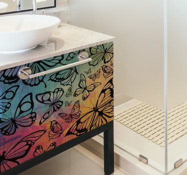 Butterflies for bathroom  furniture decal
