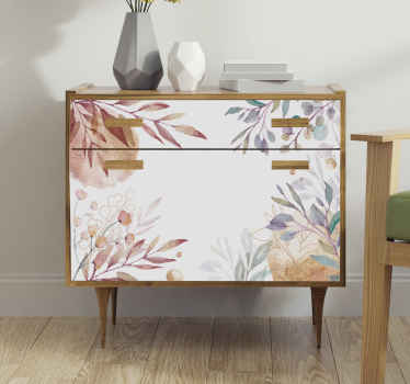 Un vinilo para muebles de flores vintage que puede usar para decorar la superficie de tus muebles en casa para que sea bonita y hermosa. Diseño fácil de aplicar.