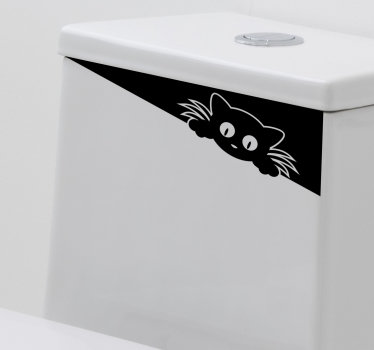 Funky funny drawing sticker for toilet closet or sink. This design will always make you laugh whenever you use the toilet. It is easy to apply .