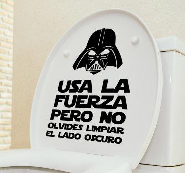 Divertido vinilos baño para inodoros y baños que puedes colocar en la superficie del mismo que te va a hacer reír cada vez que lo mires. Fácil de aplicar.