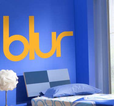 Adhesivo de música con las letras del grupo de rock alternativo británico: Blur. Con Damon Albarn como vocalista y guitarrista.