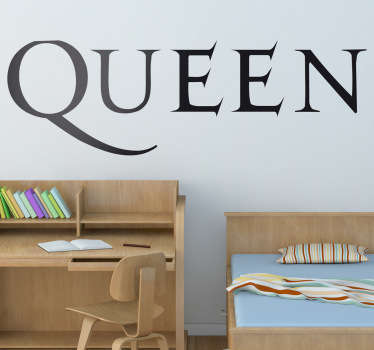 Wall Stickers - Logo illustration of British rock band Queen. Ideal for fans and musicians. Sign up for 10% off. High quality.