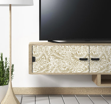 Decorate your furniture surface with this flower pattern furniture sticker and you will be happy you did because of the amazing beauty it will create.