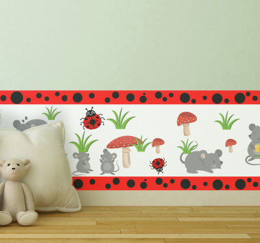 Decorative boarder wall sticker design that your kids can use to learn new animals while it keep their space beautiful. This design is easy to apply.