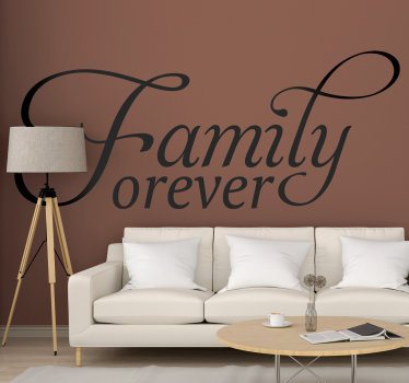 Family home text wall decal created with very nice and artistical styled font that you will love on your surface at home This design is easy to apply.