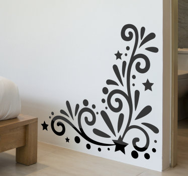 Flower wall decal design of a beautiful ornamental flower in black colour that will be amazing to decorate your home. This design is easy to apply.