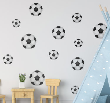 Football wall sticker created in different  sizes that you can apply on the wall of your kids room to beautify the surface and make them happy.