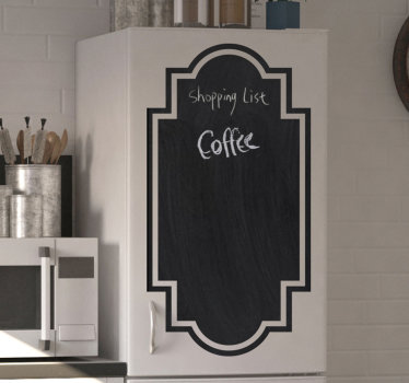 A wall decal you can write on, designed for your kitchen appliance to write menu, shopping list and what you desire for your family. Easy to apply.