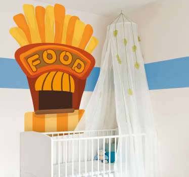 Sticker enfant fast food