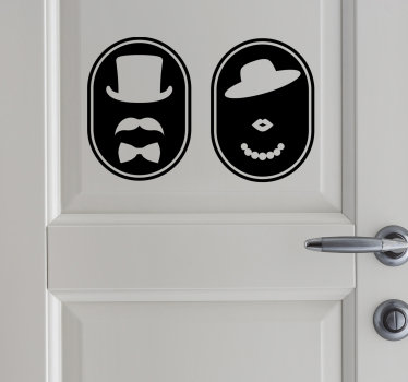 A sticker door poster for toilets and bathroom that you can apply on your bathroom door at home or in any public business place  with toilet service.
