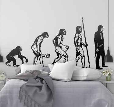 Sticker darwin evolutie mens