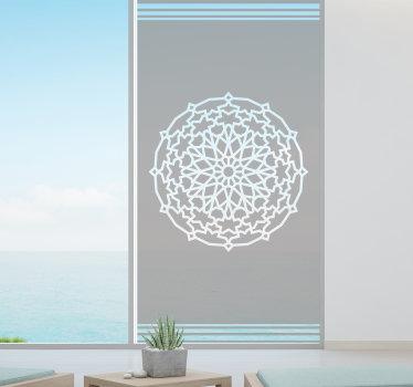 Um autocolante decorativo abstrato para janela de origem árabe que você irá adorar ter na sua janela. Medidas personalizáveis.