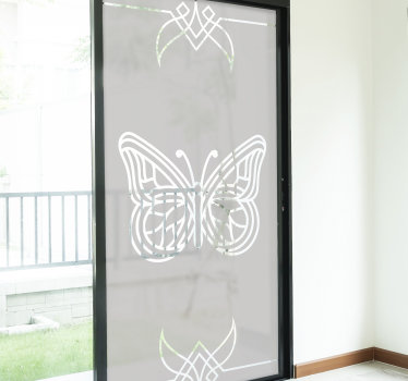 A butterfly window decal design created in translucent form that you will love the appearance it will make on the surface. Easy to apply design.