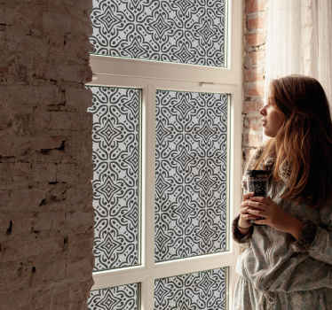 Decorative vinyl Arabic pattern window decal to decorate your home and give it class. this design is easy to apply and you can chose the size.