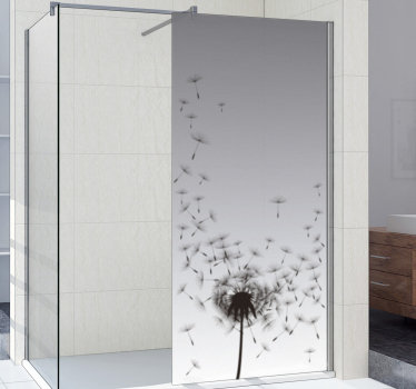 Easy to apply shower door decal created with a dandelion plant print that you will love. You can have this design in any size that you prefer.
