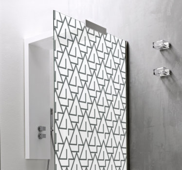 Decorate the surface of your shower door with this our triangle shower screen sticker created in multiple of triangle that you will love.