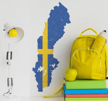 Lätt att applicera digitaltryck svensk karta skapad i den ursprungliga designen som du kommer att älska att applicera på vardagsrummet eller sovrumsväggen.