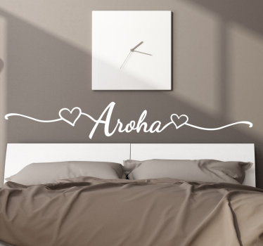 Decorative and easy to apply home wall decal with am sorry text and hearts on it in pretty style that you can have in any colour.Suitable for bedroom.