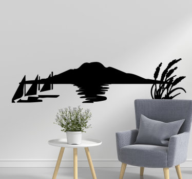 City harbour  wall decal of Auckland in silhouette style that you can have in any colour of preference. It is best to decorate the living room.