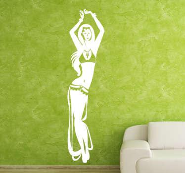Tanssiva Nainen Sisustustarra