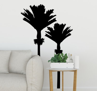 Easy to apply wall decal of palm tree of Nikau palm from new Zealand to decorate your wall at home . You can have the design in any colour you prefer.