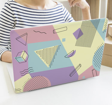 Design decorativo in pelle di vinile decorativo per laptop facile da applicare di colori pastello che ammirerai. Puoi usare anche per tablet. Puoi averlo in qualsiasi dimensione.