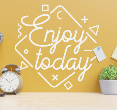 Easy to apply motivational wall vinyl sticker designed on a spacial and stylish shape surface with lovely features to decorate the wall in any colour.