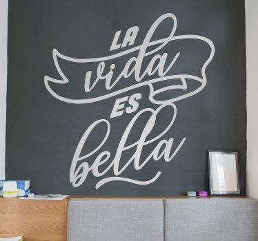 Vinilo motivacional de texto creado con un estilo muy bonito y destacado que te encantará decorar tu pared en casa.