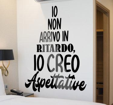 sticker  facile da applicare con citazioni di testo sul ritardo che adorerai decorare sulla parete in qualsiasi colore di tua scelta.