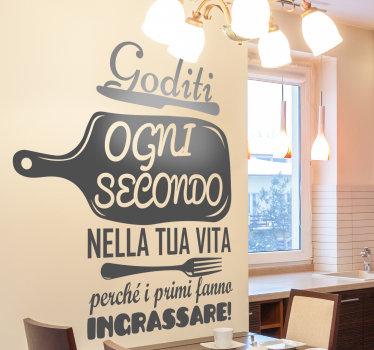 Applica il nostro design decorativo adesivo da parete per la casa in vinile adesivo da cucina di utensili da cucina e citazioni di testo sulla cucina in qualsiasi colore che preferisci.
