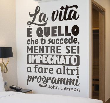 sticker decorativo per la casa dei testi delle canzoni di john lennon, progettata con il suo testo molto elegante che adorerai sulla parete in qualsiasi colore tu preferisca.