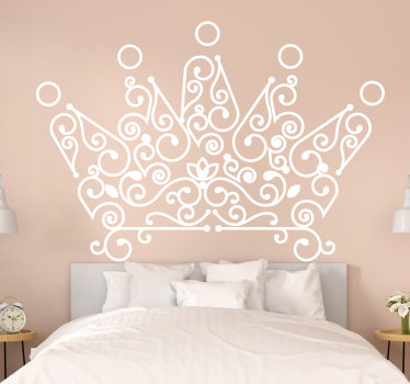 Easy to apply bedroom headboard wall sticker design of a crown and you can have it in any colour of your choice. choice the size you prefer.
