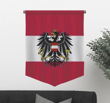 Einfach anzubringender wandtattoo für die darstellung eines Österreichadlers mit all seinen symbolischen merkmalen, die zur Dekoration aller ebenen flächen im haus geeignet sind.