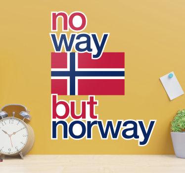 Enkelt å bruke dekorative veggoverføringsbilder av norge flagg som er laget med alle dets symboliske funksjoner og farger som du vil beundre på veggoverflaten.