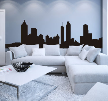 Decorative city silhouette skyline of Atlanta showing all it features and you can have it in any colour and size that you prefer for the living room.