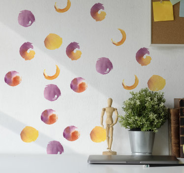 Buy this adhesive easy to apply water colour dotted shapes to decorate the wall surface of your teen's room. Just chose the size you prefer.