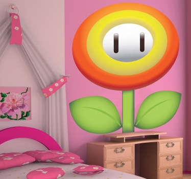 Sticker enfant fleur Super Mario