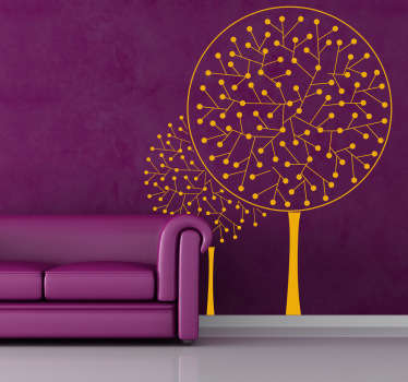Atomic Trees Wall Sticker
