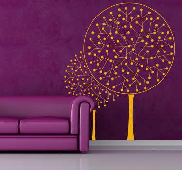 Taiteellinen Puu Seinätarra