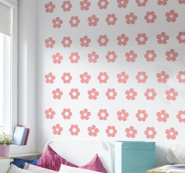 Easy to apply flower pack wall decal of pretty little floral for teens room that you can apply in any manner you like. You can also chose the colour.