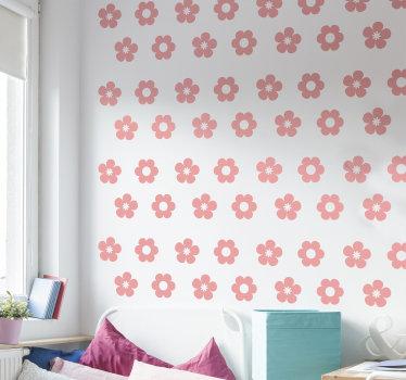 Vinilo decorativo de flores fácil de aplicar para la habitación de los adolescentes que puede aplicar de la manera que desee. También puede elegir el color.