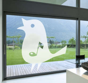 Musical Note Songbird Window Sticker